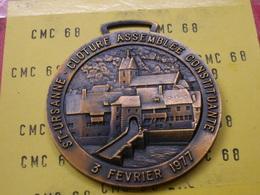 SUISSE Medaille  St-ursanne. Cloture Assemblee Constituante 3 Fevrier 1977  Bronze  56 Mm 68 G - Other