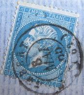 R1752/376 - NAPOLEON III N°22 (sur Fragment) - CàD De AMBERT (Puy De Dome) Du 8 MAI 1865 - 1862 Napoleon III