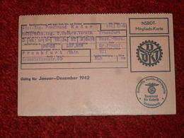 WW2. ALLEMAGNE. CARTE DE MEMBRE COTISANT AU NSBDT DE 1942 - Documenti
