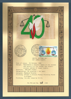 Egypt - 1988 - Special Limited Edition - Design On Papyrus - First Day Issue Postmark - Egypt