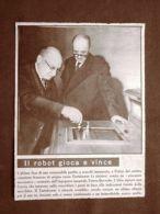 Parigi Nel 1956 Scacchi Tartakower Perde Vs Robot Dell'Ing. Torres Quevedo - Livres, BD, Revues