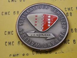 SUISSE Medaille       Walliser  Kleinkaliber  Schutzen  Verdand  50 Mm 60 G - Other