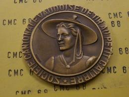 SUISSE Medaille     Societe  Cantonale   Vaudoise  De Tir  Au  Petit  Calibre  Bronze 50 Mm -53 G - Other
