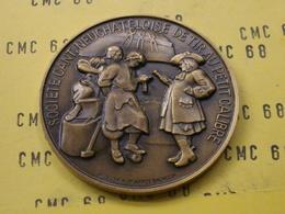 SUISSE Medaille     Societe  Cant.  Neuchateloise  De Tir  Au  Petit  Calibre 1973  50 Mm -55 G Bronze - Other