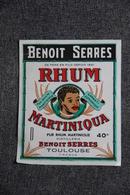 ETIQUETTE - RHUME MARTINIQUA - Benoit SERRE - TOULOUSE - Rhum