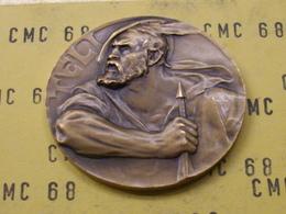 SUISSE  Medaille  Bronze   Luftgewehr- Meistershaft Linth  1937   Teli   40mm 26 G - Tokens & Medals