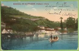 Santarém - Ribeira De Santarém - Palhaes - Cheia (postal C/ Furo) - Santarem