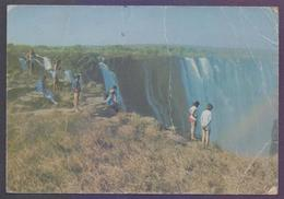 ZIMBABWE Picture POSTCARD - Danger Point Victoria Falls, Postal Used 1989, POST CARD - Zimbabwe