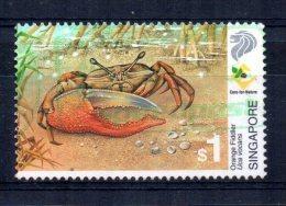Singapore - 2000 - $1 Wetland Wildlife/Orange Fiddler Crab - Used - Singapour (1959-...)