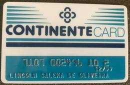 BRAZIL (2) CONTINENTE CARD - SUPERMARKET - 1999 - Credit Cards (Exp. Date Min. 10 Years)