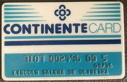 BRAZIL (2) CONTINENTE CARD - SUPERMARKET - 1996 - Credit Cards (Exp. Date Min. 10 Years)
