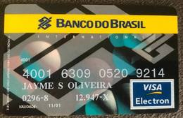 BRAZIL BANK CARD OF BRAZIL - 2001 - Credit Cards (Exp. Date Min. 10 Years)