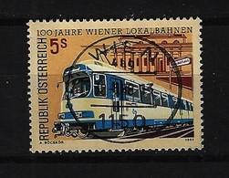 Österreich - Mi-Nr. 1917 - 100 Jahre Wiener Lokalbahnen Gestempelt - 1981-90 Gebraucht