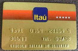BRAZIL (2) BANK CARD OF ITAU - 03/1998 - Credit Cards (Exp. Date Min. 10 Years)