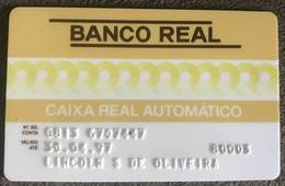 BRAZIL BANK CARD OF REAL - 04/1997 - THIS BANK DOES NOT EXIST MORE - Credit Cards (Exp. Date Min. 10 Years)