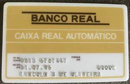 BRAZIL BANK CARD OF REAL - 07/1996 - THIS BANK DOES NOT EXIST MORE - Credit Cards (Exp. Date Min. 10 Years)