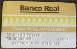BRAZIL BANK CARD OF REAL - 04/1999 - THIS BANK DOES NOT EXIST MORE - Credit Cards (Exp. Date Min. 10 Years)