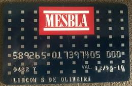 BRAZIL MESBLA STORE CARD - 12/1996 - THIS STORE DOES NOT EXIST MORE - Credit Cards (Exp. Date Min. 10 Years)