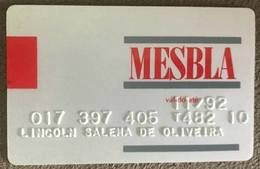 BRAZIL MESBLA STORE CARD - 11/1992 - THIS STORE DOES NOT EXIST MORE - Credit Cards (Exp. Date Min. 10 Years)