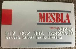 BRAZIL MESBLA STORE CARD - 03/1994 - THIS STORE DOES NOT EXIST MORE - Credit Cards (Exp. Date Min. 10 Years)