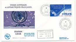TAAF - Enveloppe FDC - 27,30 Station LIDAR - Dumont D'Urville T. Adélie - 1-1-1994 - FDC