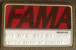 BRAZIL FAMA STORE CARD - 07/1995 - THIS STORE DOES NOT EXIST MORE - Credit Cards (Exp. Date Min. 10 Years)