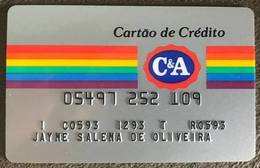 BRAZIL C & A STORE CREDIT CARD - 12/1993 - Credit Cards (Exp. Date Min. 10 Years)