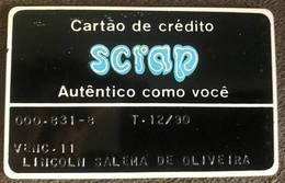 BRAZIL SCRAP CREDIT CARD - 12/1990 - THIS STORE DOES NOT EXIST MORE - Credit Cards (Exp. Date Min. 10 Years)