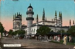 ! Alte Ansichtskarte Rangoon, Mosque, Moschee, Burma, 1912 - Myanmar (Burma)