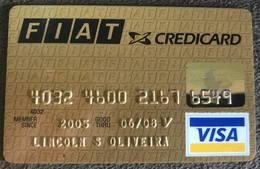 BRAZIL (2) FIAT VISA CREDIT CARD - 06/2008 - Credit Cards (Exp. Date Min. 10 Years)