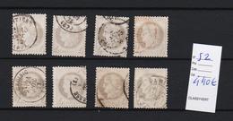 FRANCE N° 52 X 8 Ex.   T.b. D'aspect .    ( Pas D'aminci ) Cote 440 Euros - Stamps