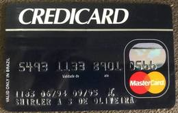 BRAZIL (2) CREDICARD MASTERCARD CREDIT CARD - 09/1995 - Credit Cards (Exp. Date Min. 10 Years)