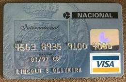 BRAZIL NACIONAL VISA CREDIT CARD - 03/1997 - THIS BANK DOES NOT EXIST MORE - Credit Cards (Exp. Date Min. 10 Years)