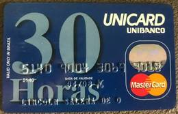 BRAZIL UNIBANCO MASTERCARD CREDIT CARD - 04/2008 - THIS BANK DOES NOT EXIST MORE - Credit Cards (Exp. Date Min. 10 Years)