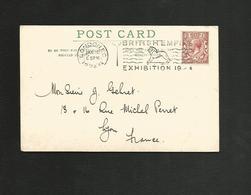GB OBLITERATION MECANIQUE SUR CARTE DE LONDRES POUR LA FRANCE DU 28/1/1924 - Poststempel