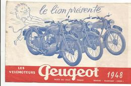Cn  Doc : Peugeot Cycles Motos   Les Velomoteurs Peugeot D 55 : 1948 2 Feuilles - Motos