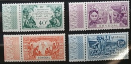 TIM 25 SENEGAL Exposition Coloniale De PARIS 1931 Série De 4 Timbres NEUFS ** ++  Avec Bord De Feuille Parfait état - 1931 Exposition Coloniale De Paris