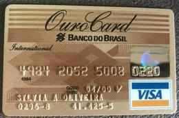 BRAZIL OUROCARD BANK OF BRAZIL VISA CREDIT CARD - 04/2000 - Credit Cards (Exp. Date Min. 10 Years)