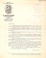 Uitnodiging St Christoffelbedevaart - Zegening Auto's En Moto's -  Gent 1959 - - Unclassified