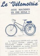 Cn  Doc :  Cycles  Motos  Le Velomotrix 4 Pages - Motos
