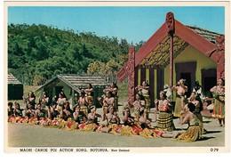 Maori Canoe Poi Action Song Rotorua - Nouvelle-Zélande