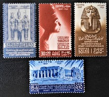 ROYAUME - EXPO INTERNATIONALE D'ART CONTEMPORAIN 19+47 - NEUFS ** - YT 250/53 - MI 301/04 - Egypt