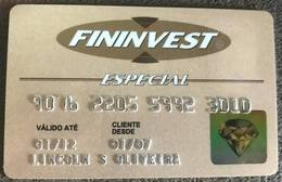 BRAZIL FININVEST CREDIT CARD - 01/2012 - Credit Cards (Exp. Date Min. 10 Years)