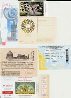 Lot 6 Tickets Hétéroclites Entrées Musées, Ravenne, Pise, Florence, Pologne, Prague - Tickets - Vouchers
