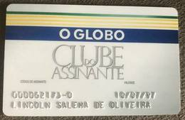 BRAZIL SUBSCRIBER CARD NEWSPAPER - O GLOBO - 07/1997 - Credit Cards (Exp. Date Min. 10 Years)