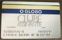 BRAZIL SUBSCRIBER CARD NEWSPAPER - O GLOBO - 07/1997 - Geldkarten (Ablauf Min. 10 Jahre)