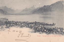 Vevey : Vue Générale - Oblitérée Ste-Croix Le 15.IV.1899 - VD Vaud