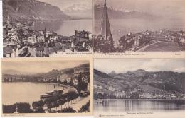 Montreux : Petit Lot De 4 Cartes - VD Vaud