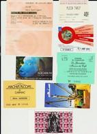 Lot 8 Tickets Hétéroclites Entrées Musées, Expos Sites Carnac, Lille, Reims, La Rochelle, Douarnenez, Guadeloupe - Tickets - Vouchers