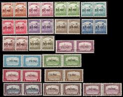 CV:€1.845.60 FIUME 1918 Agriculture Church PAIRS:18 [Aufdruck,surimprimé,sobreimpreso] - Fiume